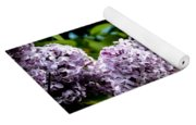Springtime Lilac And Butterfly Yoga Mat