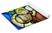 St Anthony In Stained Glass Yoga Mat