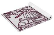 St. George - Woodcut Yoga Mat