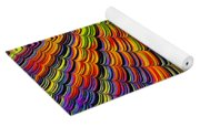Stacked Colors Yoga Mat