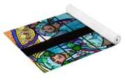 Stained Galss Window In St Vitus Yoga Mat