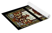 Stained Glass 3 Panel Vertical Composite 03 Yoga Mat