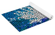 Stained Glass Anemone 1 Yoga Mat