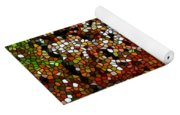 Stained Glass Autumn Colors In The Forest  Yoga Mat