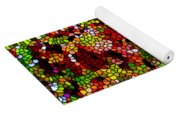 Stained Glass Autumn Leaves Reflecting In Water Yoga Mat