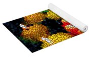 Stained Glass Candle 1 Yoga Mat