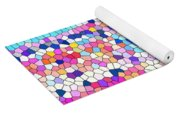 Stained Glass Colorful Cross Yoga Mat