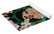 Stained Glass Ganapati Yoga Mat