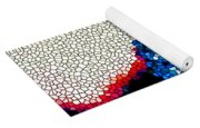 Stained Glass Leopard 1 Yoga Mat
