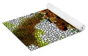 Stained Glass Leopard 2 Yoga Mat