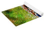 Stained Glass Leopard 3 Yoga Mat