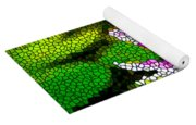 Stained Glass Pink Lotus Flower   Yoga Mat