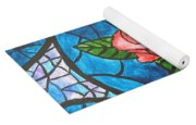 Stained Glass Roses Yoga Mat