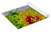Stained Glass Sunflowers Yoga Mat
