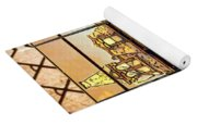 Stained Glass Template Victorian Twilight Yoga Mat