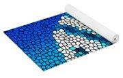 Stained Glass Underwater Fish Yoga Mat