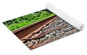 Summer Railroad Tracks Yoga Mat