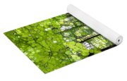Summer's Green Forest Abstract Yoga Mat