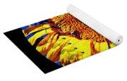 Sunflower Baseball Square Yoga Mat