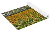 Sunflower Fields Ford World Headquarters Dearborn Mi Yoga Mat