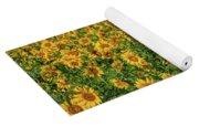 Sunflowers Helianthus Annuus Growing Yoga Mat