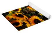 Sunflowers In Blue Bowls Yoga Mat