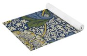 Sunflowers On Blue Pattern Yoga Mat