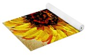 Sunflowers On Wooden Board Yoga Mat