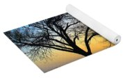 Sunset And Trees Yoga Mat