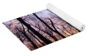 Sunset In The Forest Yoga Mat
