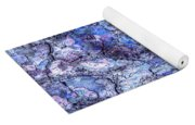 Surreal Patterned Bark In Blue Yoga Mat