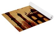 Taj Mahal Lovers Dream Original Coffee Painting Yoga Mat