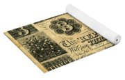 Texas Banknote, 1841 Yoga Mat