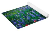 Texas Bluebonnet Field Yoga Mat