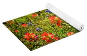 Texas Bluebonnets And Red Indian Paintbrush Yoga Mat