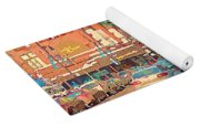 The Bay Department Store Downtown Montreal University And St Catherine Winter City Scene C Spandau  Yoga Mat