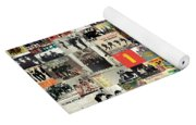 The Beatles Collage Yoga Mat