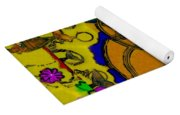 The Cat And His Fish Popart Yoga Mat