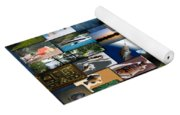 The Fishing Hole Collage Rectangle Yoga Mat