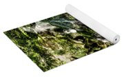 The Old Troll Caught By The Sun Admiring The Forest Waterfall Yoga Mat