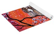 The Owl And The Pussycat In Peach Blossoms Yoga Mat