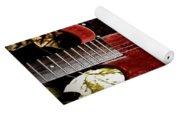 The Red Guitar Blues Yoga Mat