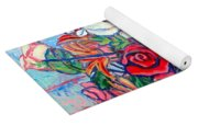 The Red Rose Yoga Mat