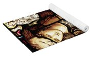 The Tibertine Sibyl In Stained Glass Yoga Mat