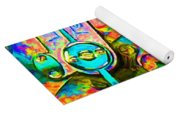 Time In Abstract 20130605p180 Yoga Mat