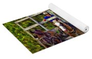 Time Travelers Impasto Yoga Mat