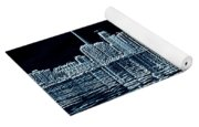 Toronto Skyline In Blue Yoga Mat