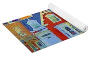 Town Houses In Winter Suburban Side Street South West Montreal City Scene Pointe St Charles Cspandau Yoga Mat