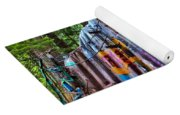 Train Wreck Art In The Forest Yoga Mat