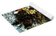 Tree Reflected In Leaves Yoga Mat